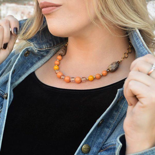 Orange Mountain Jade Necklace