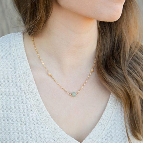 Layered Lovelies 16″ Gold Aventurine Necklace