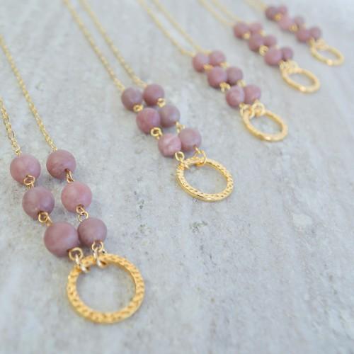 Golden Petite Purple Aventurine Necklaces