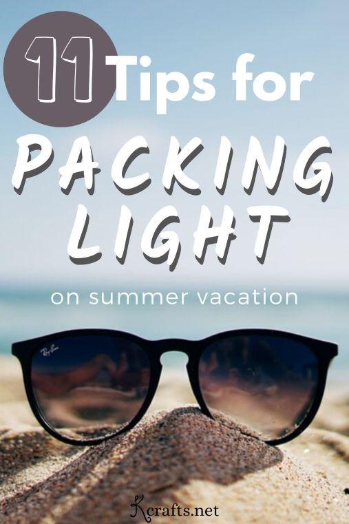 summer vacation packing light tips