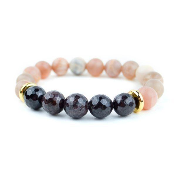 Sunstone and Garnet Bracelet