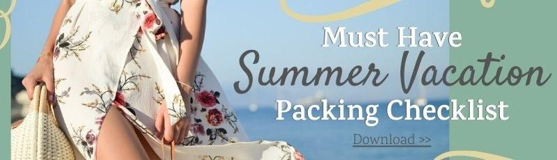 summer vacation packing checklist
