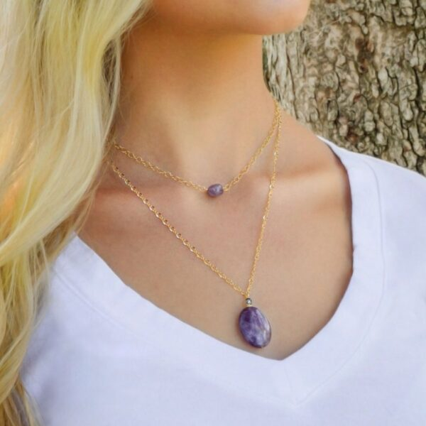 """Layered Lovelies 15"""" and 19"""" Amethyst Necklaces"""