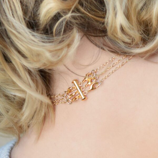 Layered Necklace Clasp, Gold