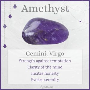 Amethyst zodiac sign meaning