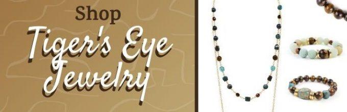 tigers eye jewelry collage