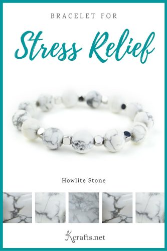 bracelet for stress relief made out of howlite stone